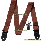 dunlop_d07-01br_guitar_poly_strap_brown_open_all1